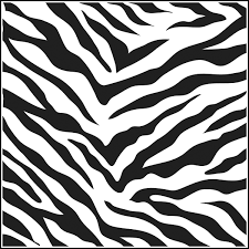 Printable Coloring Book Zebra Part Animal Print Pages