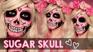 Halloween Half Mask Makeup by Sugar Skull Makeup Face Paint Tutorial Halloween How To