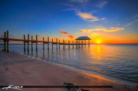 Bathtub Beach Stuart Fl by Stuart Florida Sunset Pier Okeechobee Waterway