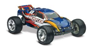 100 Stadium Truck Traxxas Rustler 110 Scale With TQ 24 GHz Radio