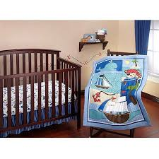 little bedding by nojo baby buccaneer 3 piece crib bedding set