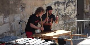 100 Home Made Xylophone The Txalaparta A Giant Basque Xylophone For Two Players