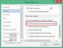 Print Color In Microsoft Word 2007