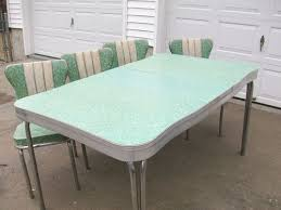 1950s Retro Formica Chrome Kitchen Table And Chairs
