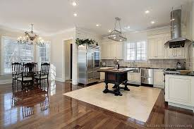 Popular Wood Floors In White Kitchen Cabinets With Dark Best Design For Your