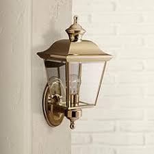 brass antique brass wall light outdoor lighting ls plus