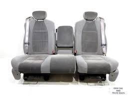100 Ford Truck Replacement Seats F150 F150 Oem 6040 Cloth W Integrated