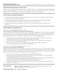 Senior Executive Resume Examples It Manager Resumeexamples