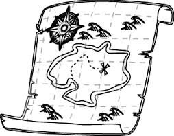 Treasure Map Outline Clip Art at Clker vector clip art