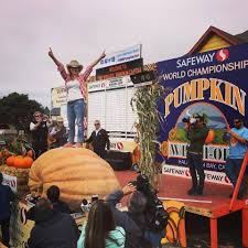 Half Moon Bay Pumpkin Festival Biggest Pumpkin by Olympia Woman Wins Giant Pumpkin Contest At Half Moon Bay Komo