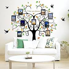 amazon com family tree wall decal 9 large photo pictures frames