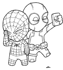 Baby Spiderman Coloring Pages And