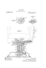 Koken Barber Chairs St Louis by Patent Us1242110 Barber U0027s Chair Google Patents