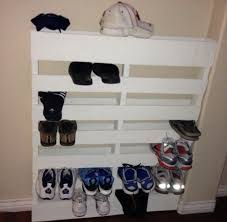 How To Make A Shoe Rack Out Of Pallet