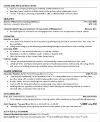 Brilliant Ideas Of Accounting Student Resume Resumes Examples Samples Free