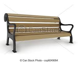 3d illustration of a park bench drawing Search Clip Art