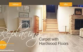 replacing carpet with hardwood floors