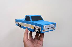 100 Paper Truck DIY Craft Pickup TruckLowrider TruckChevy Truck