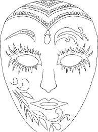 Mask Coloring Pages Wonderful Masquerade Ingenious Free Printable