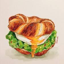 Food art Watercolor