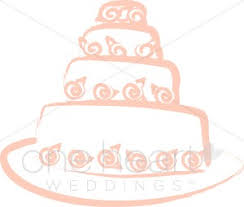 Wedding Cake Sketch Clipart