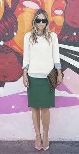 High Waisted Pencil Skirt Untucked 3