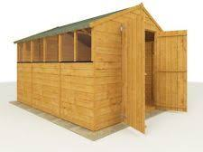 8 x 6 waltons tongue and groove large door apex wooden shed gardens