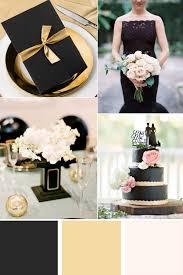 Elegant Gold And Black Wedding Color Ideas
