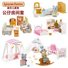 New Arrival Sylvanian Family Rabbit Sister Honey Room Bathroom Dining Set Living Sets Doll Sweet Home Play House Toys Nautical Wedding Favors Neat