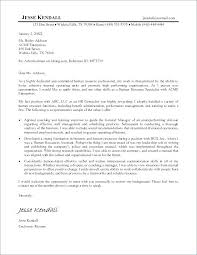 Human Resource Cover Letters Hr Letter Sample Resume Samples Resources With