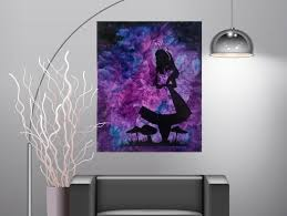 Disney Alice In Wonderland Melted Crayon Art Cheshire Cat Canvas Abstract