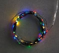 multi colored mini led string lights pottery barn