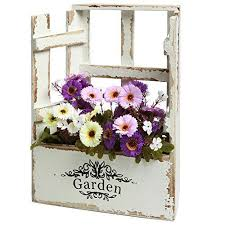 MyGift Country Rustic Window Design Vintage Finish Wood Garden