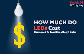 how much do leds cost compared to traditional light bulbs kodak