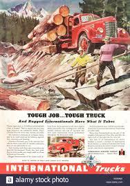 100 International Trucks Chicago 1946 US Magazine And War Bonds Advert Stock