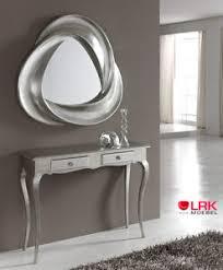 details zu pu178 dupen design spiegel wandspiegel silber flur möbel wohnzimmer neu
