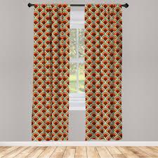 gardine fensterbehandlungen 2 panel set für wohnzimmer schlafzimmer dekor abakuhaus kreis kurvige waved spots kaufen otto