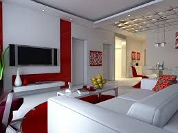 Red And White Living Room Decorating Ideas Decor Luxurious Image About