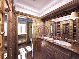 luxus antike badezimmer badezimmer barokes bilder myloview