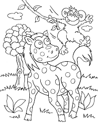 Safari Coloring Pages Animals Printable Pictures The N Giraffe Or