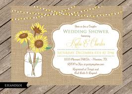 Rustic Couples Or Coed Wedding Shower Invitation Burlap Sunflowers Bridal Rehearsal Dinner