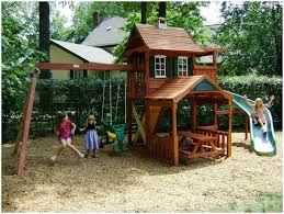 Backyards : Wonderful Kids Jungle Gym With Play House And Slide ... Simple Diy Backyard Forts The Latest Home Decor Ideas Best 25 Fort Ideas On Pinterest Diy Tree House Wooden 12 Free Playhouse Plans The Kids Will Love Backyards Cozy Fort Wood Apollo Redwood Swingset And Gallery Pinteres Mesmerizing Rock Wall A 122 Pete Nelsons Tree Houses Let Homeowners Live High Life Shed Combination Playhouse Plans With Easy To Pergola Design Awesome Rustic Pergola Screen Easy Backyard Designs