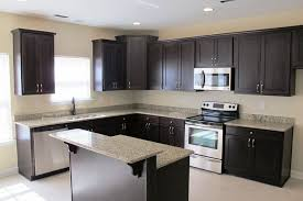 Dark Wood Cabinet Kitchens Colors High End Bar Stools For Kitchen Island Kitchen Color Ideas Light