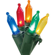 Colored Bulbs For Ceramic Christmas Tree by Christmas Lights Walmart Com