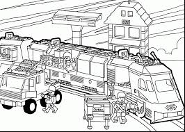 Fabulous Lego Train Coloring Pages Printable With The Movie And
