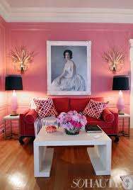 fresh color combo pink rosa wohnzimmer wohnzimmer