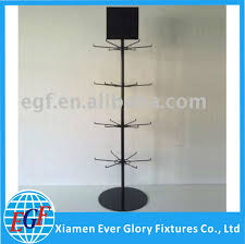 4 Tier Floor Stand Metal Spinning Display Rack With Sign Plate For Flip Flop