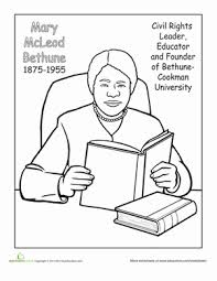 Ruby Bridges Letter From Eleanor Roosevelt Meet Mcleod Bethune Coloring Page Education