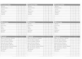 I Made The Clue Sheets By Creating A Grid In Excel Including Each Category And Possibility Put Three Across Page Printed It Landscape