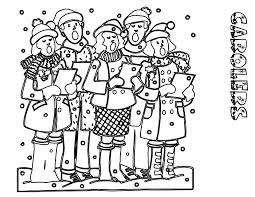 Carolers Coloring Pages Of Christmas Carol